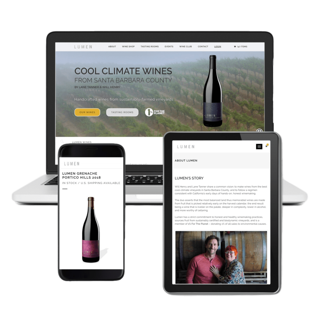Lumen Wines work by Newtimer Marketing